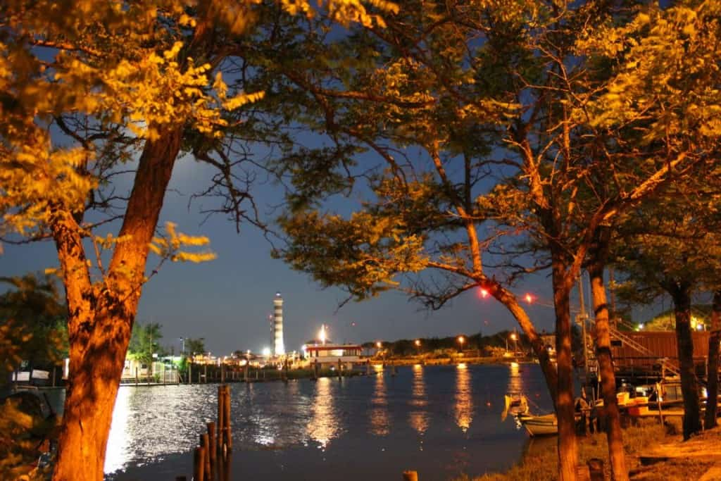 Der Leuchtturm von Jesolo an der Sile-Mündung.